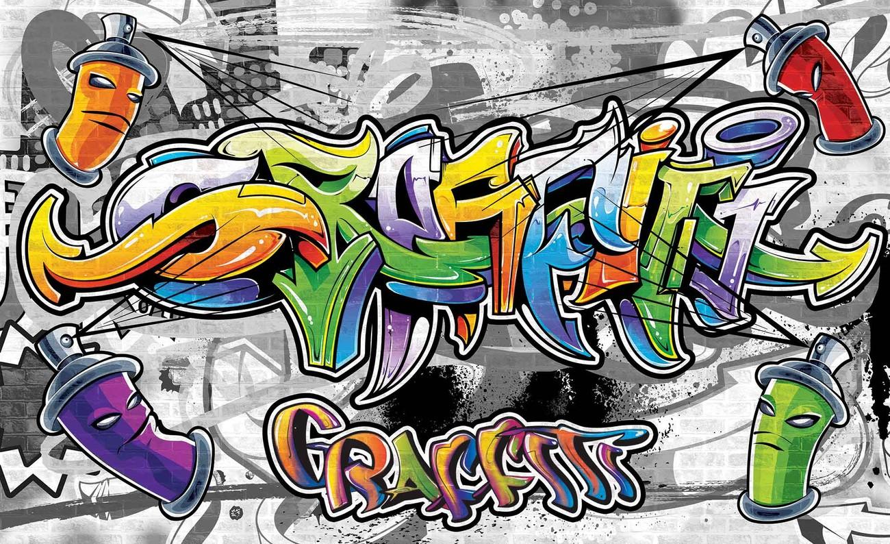 Graffiti Street Art Wall Paper Mural
