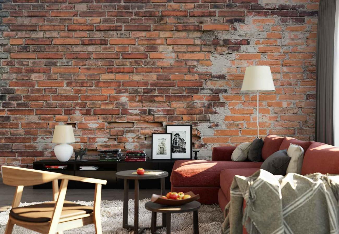 5 Grunge Brick Wall Wall Paper Mural