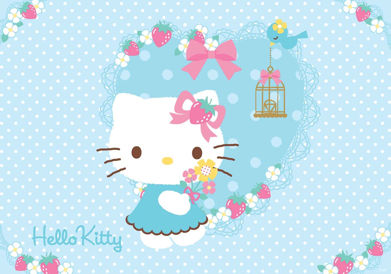 hello kitty wall mural for your home buy at europosters hello kitty wall mural photo wallpaper 454dk