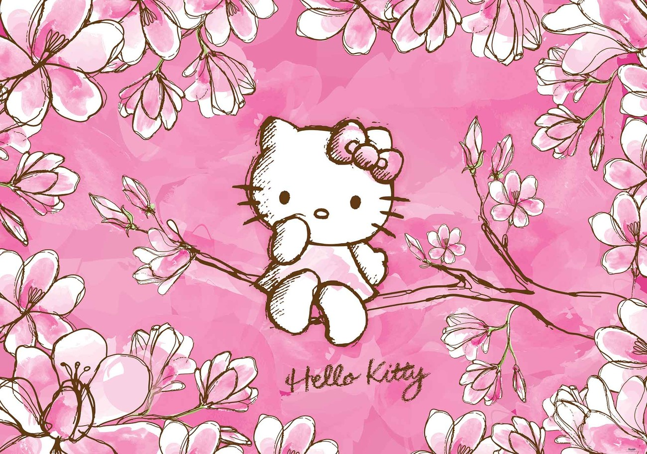 Wild Animal Wall Stickers Hello Kitty Wall Paper Mural Buy At Europosters