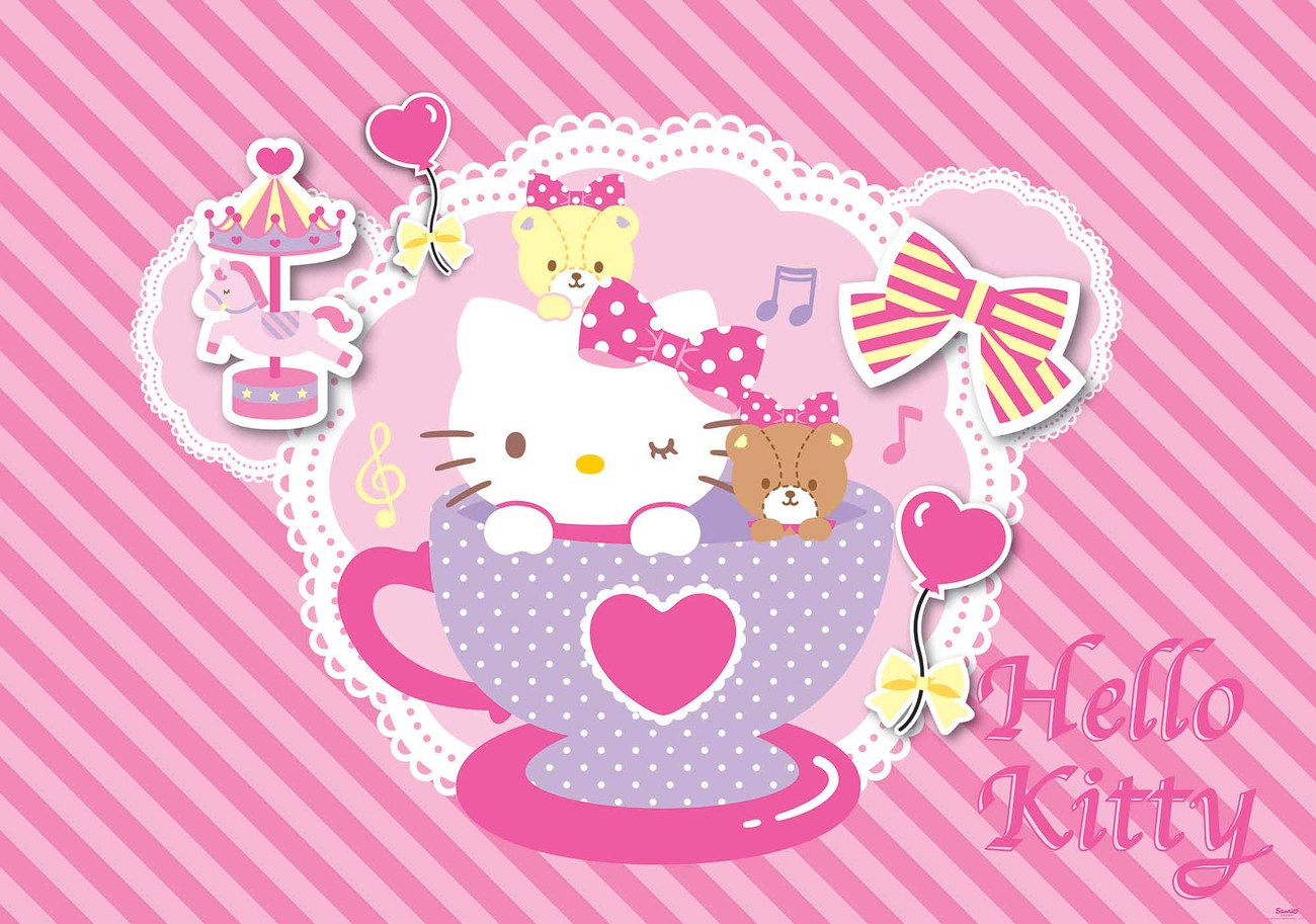 Hello Kitty Wall Paper Mural Buy At Abposters Com