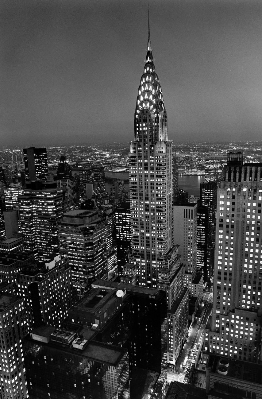 henri silberman chrysler building wall mural buy at europosters. Black Bedroom Furniture Sets. Home Design Ideas
