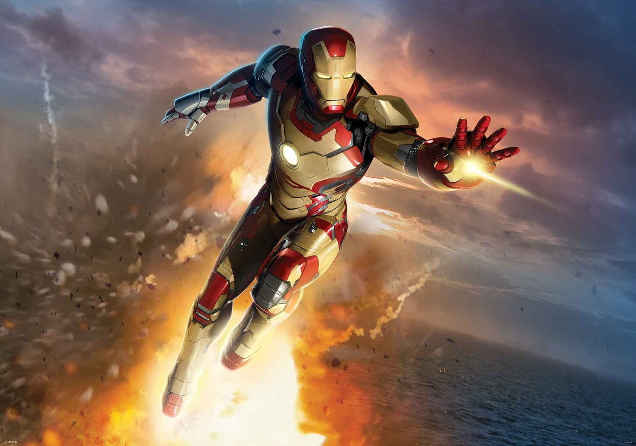 Iron man marvel avengers wall paper mural buy at europosters for Avengers wallpaper mural
