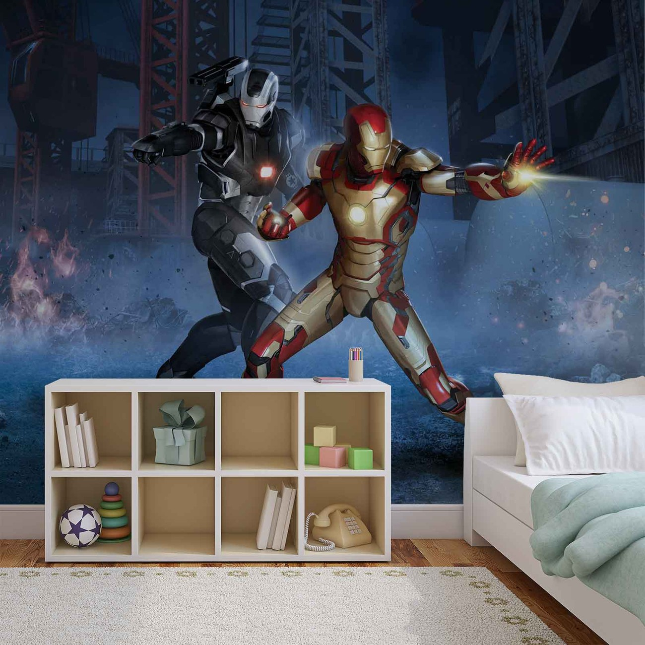 Iron Man EndGame Wall Art Marvel Comics Wall Mural Avengers Wallpaper I Love You 3000 Self Adhesive Wallpaper Peel and Stick Wallpaper X292