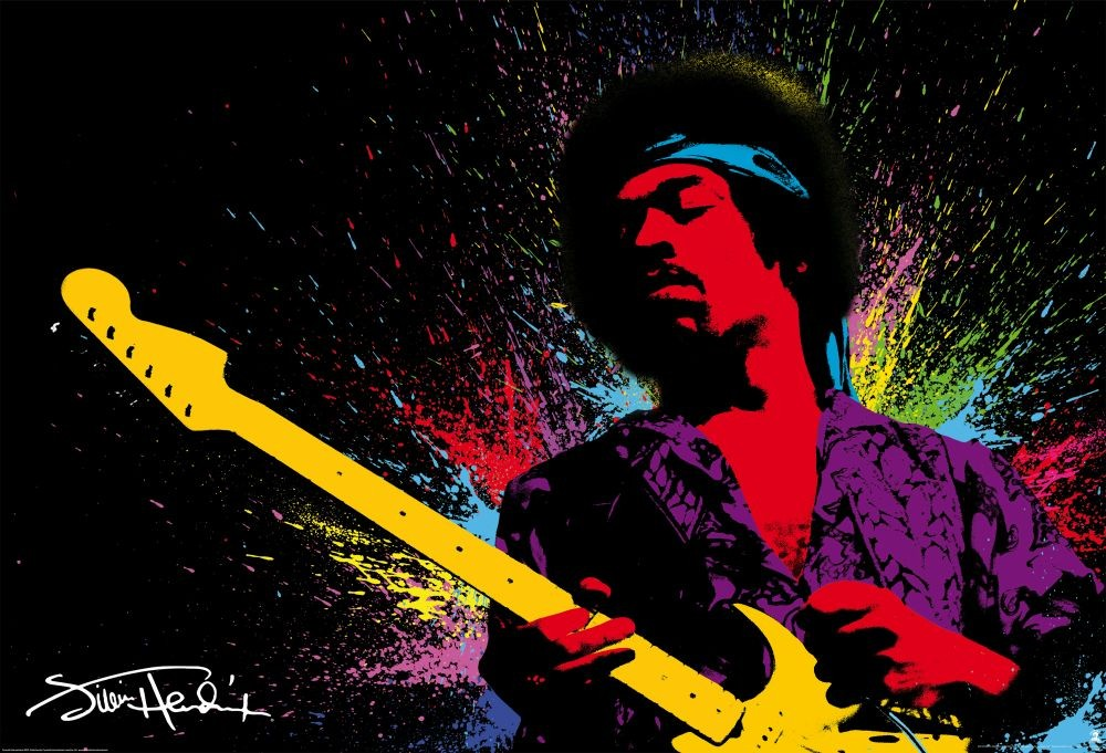 Jimmy Hendrix Wall Mural Buy At Europosters
