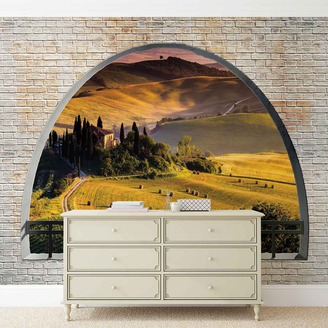 landscape nature arch view wall paper mural buy at europosters. Black Bedroom Furniture Sets. Home Design Ideas