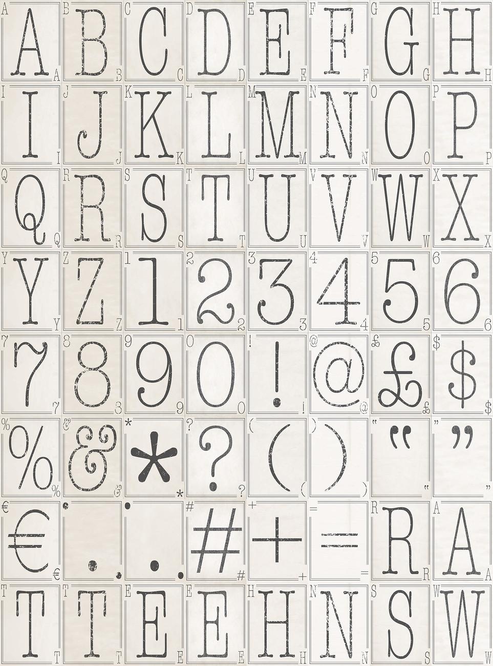 Letters Wallpaper Mural