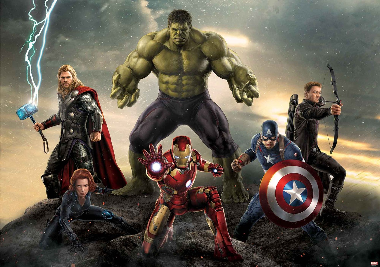 Marvel Avengers Battle Wall Paper Mural | Buy at EuroPosters