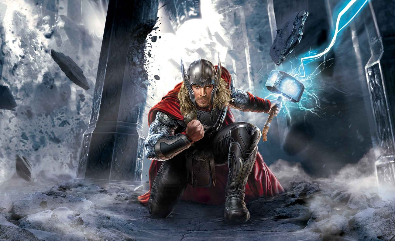 Marvel avengers thor wall paper mural buy at europosters for Avengers wallpaper mural
