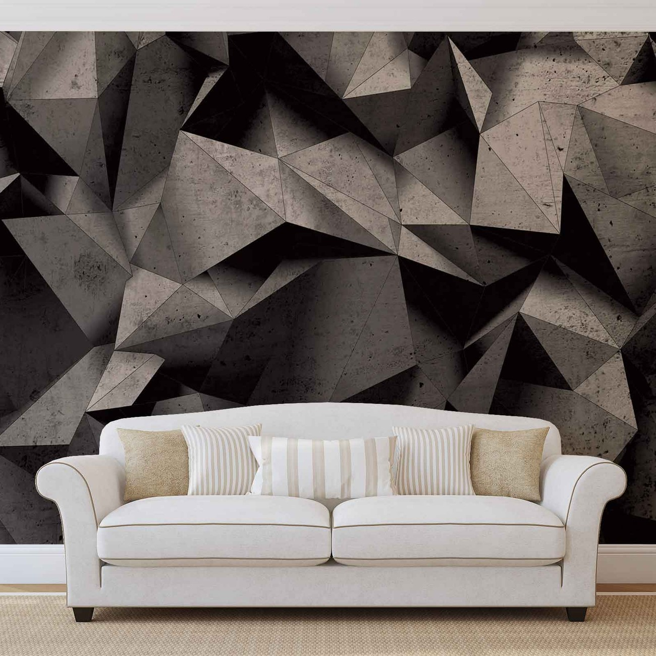 Modern Abstract Geometric Art Wall Paper Mural