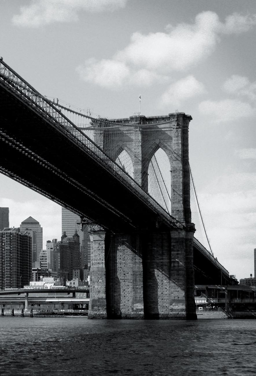 New york brooklyn bridge wall mural buy at europosters for New york mural wallpaper