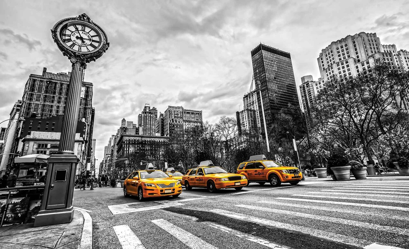 New York City Cabs Wall Paper Mural Buy At Europosters
