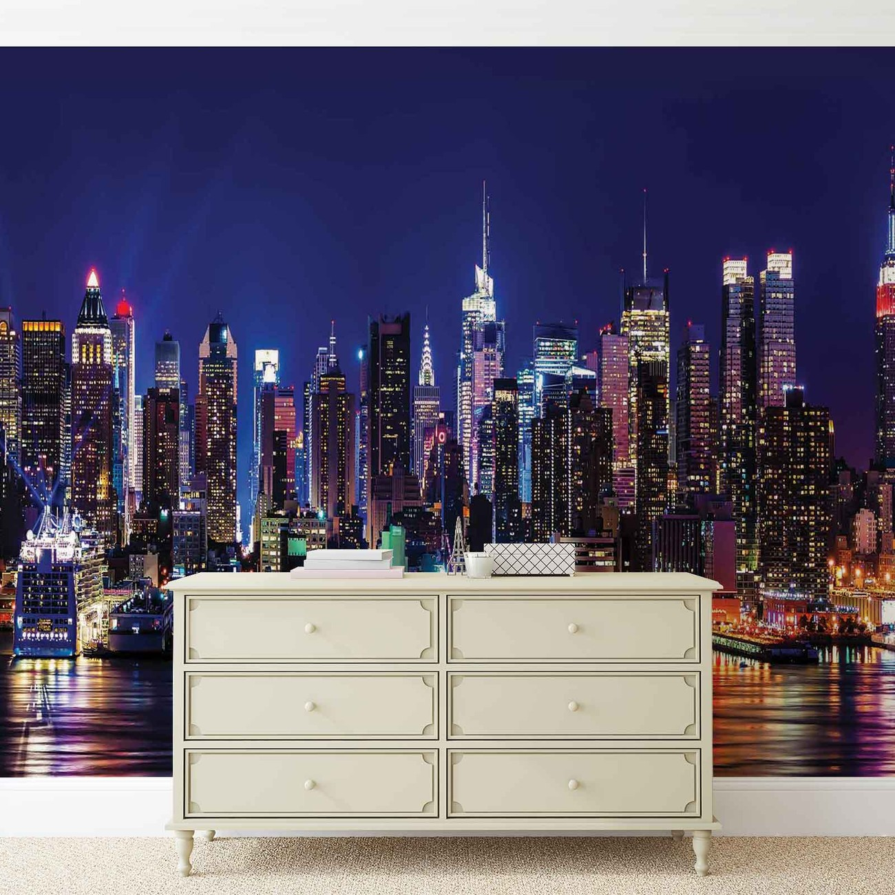 new york city wall paper mural buy at. Black Bedroom Furniture Sets. Home Design Ideas