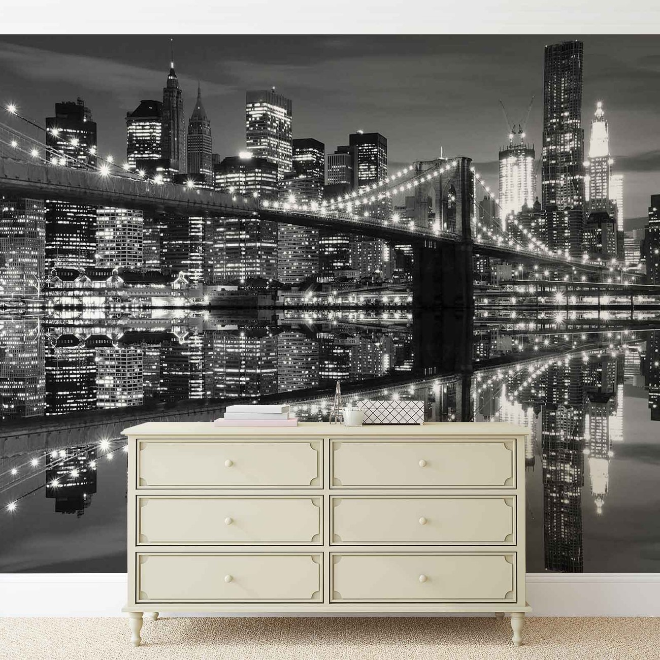 Wall Murals Cityscapes New York City Skyline Brooklyn Bridge Wall Paper Mural
