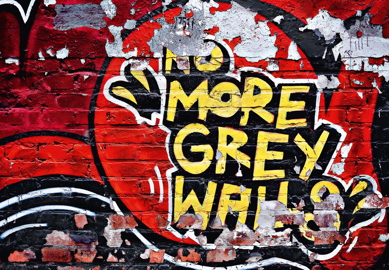 No more grey walls wall mural buy at europosters for Poster mural pas cher