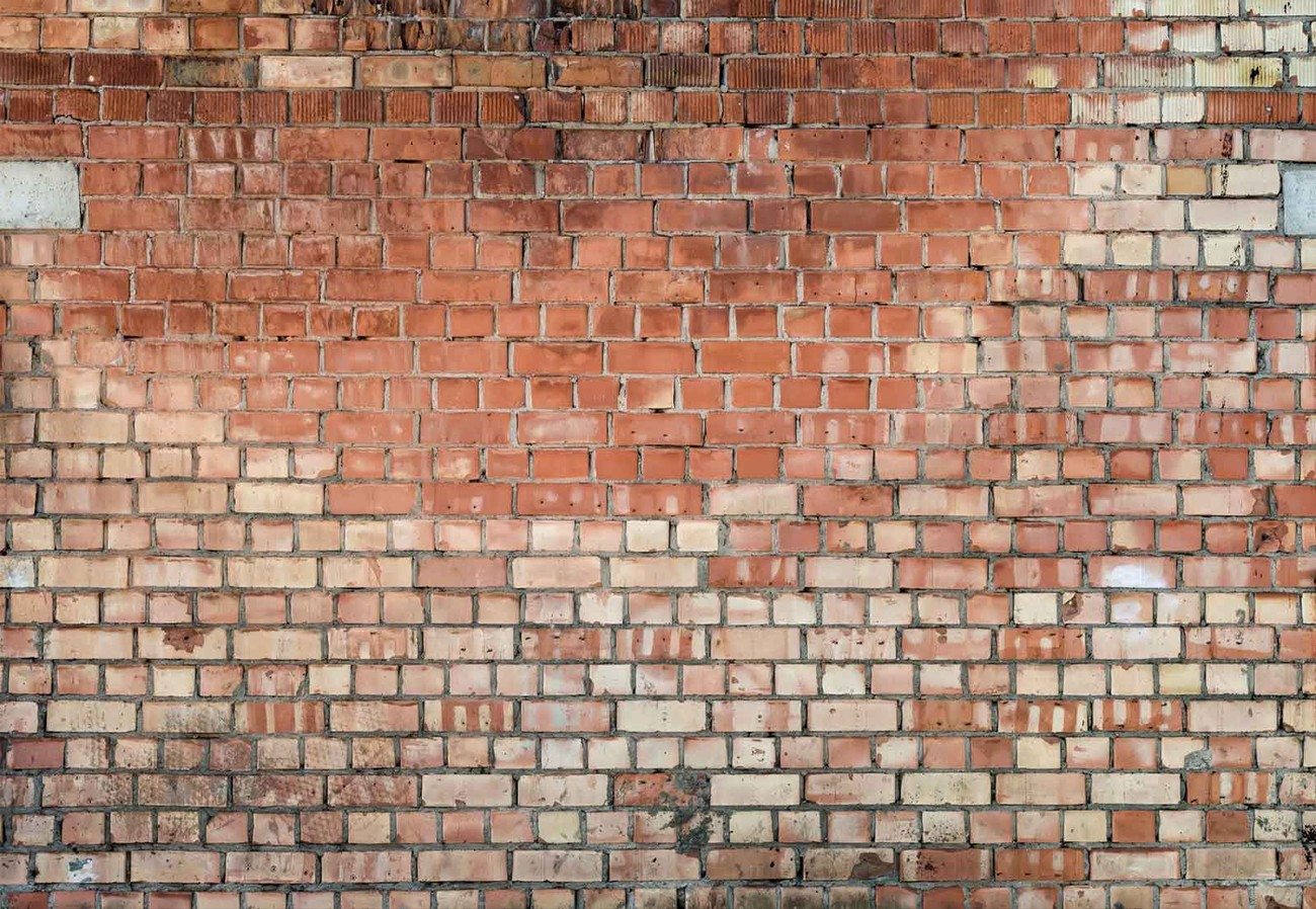Old brick wall paper mural buy at europosters for Brick mural wallpaper