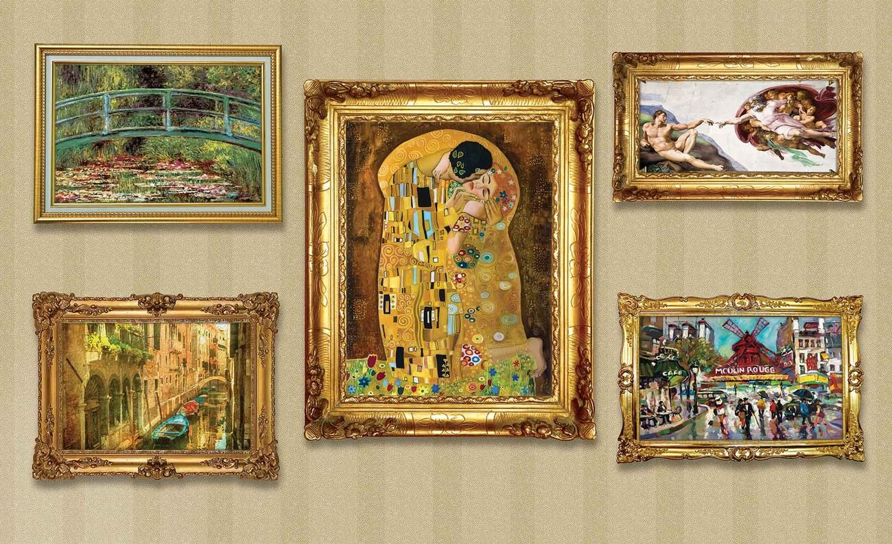 Paintings Art Luxury Wall Paper Mural | Buy at EuroPosters