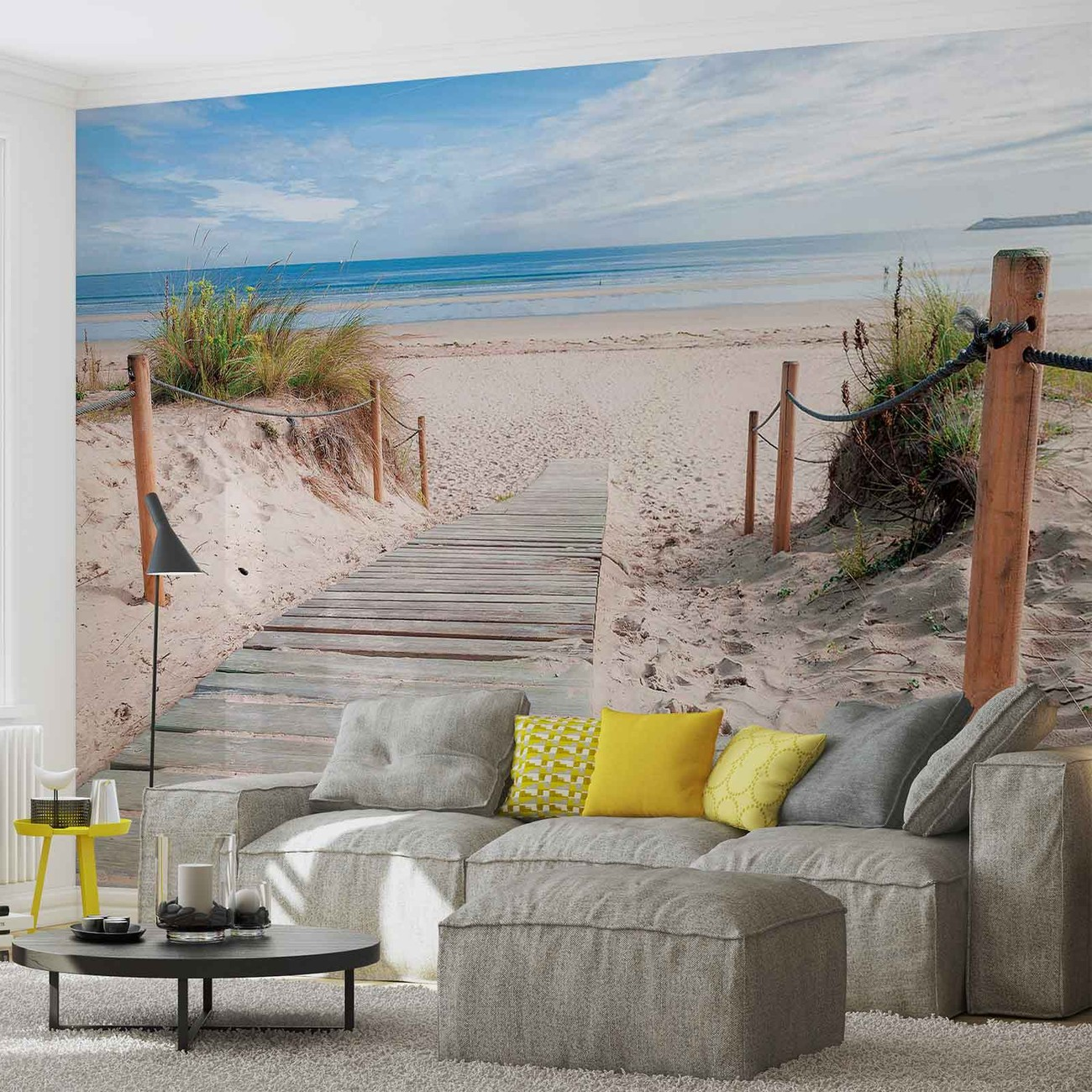 path beach sand nature wall paper mural buy at europosters. Black Bedroom Furniture Sets. Home Design Ideas
