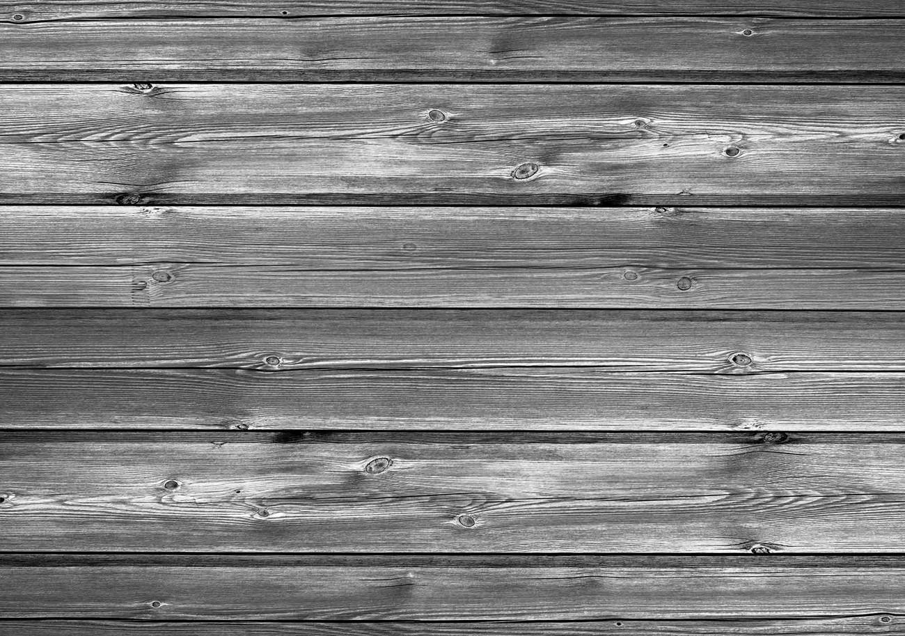 Pattern Grey Wooden Wallpaper Mural