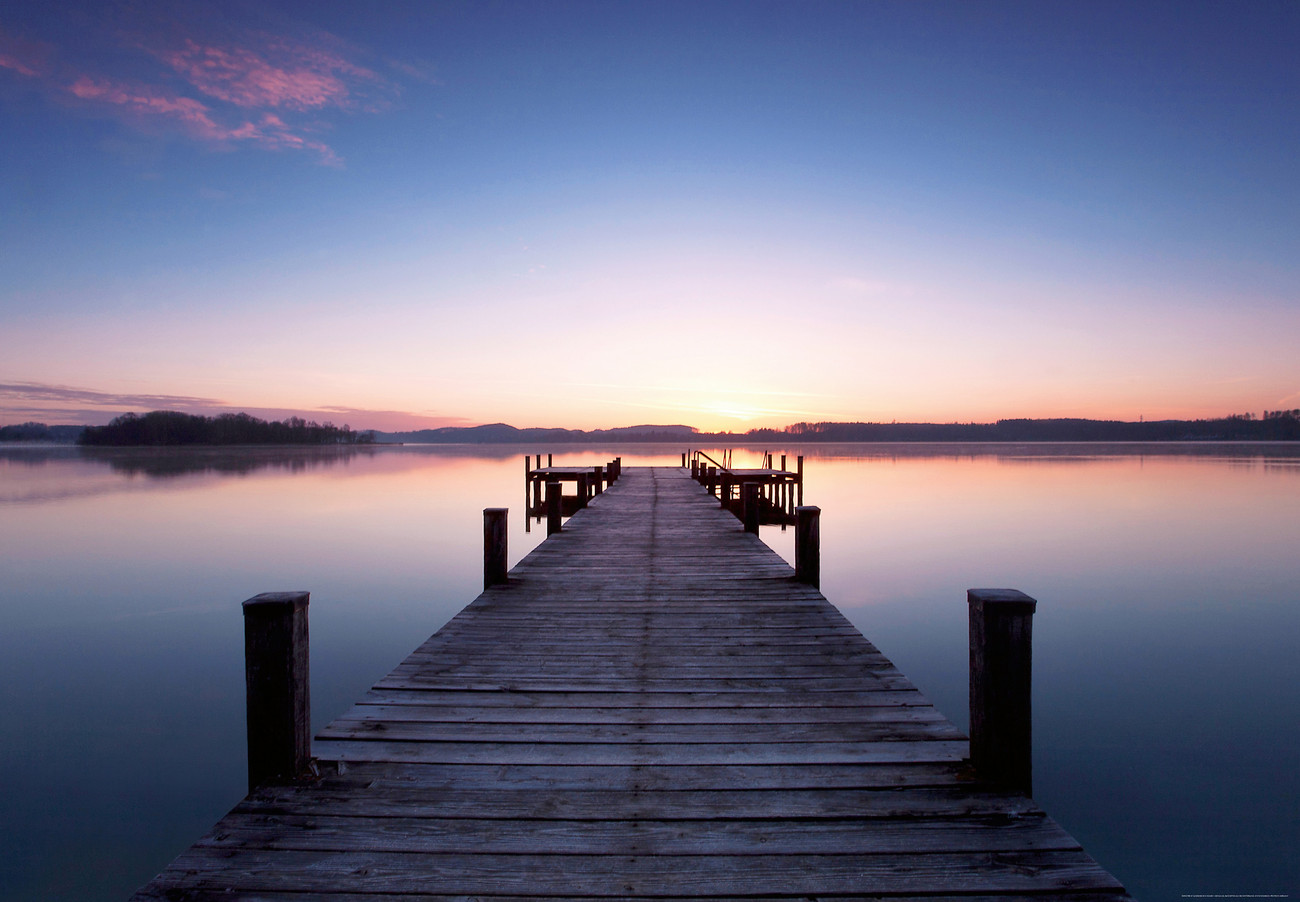 pier at sunrise wall mural buy at europosters. Black Bedroom Furniture Sets. Home Design Ideas