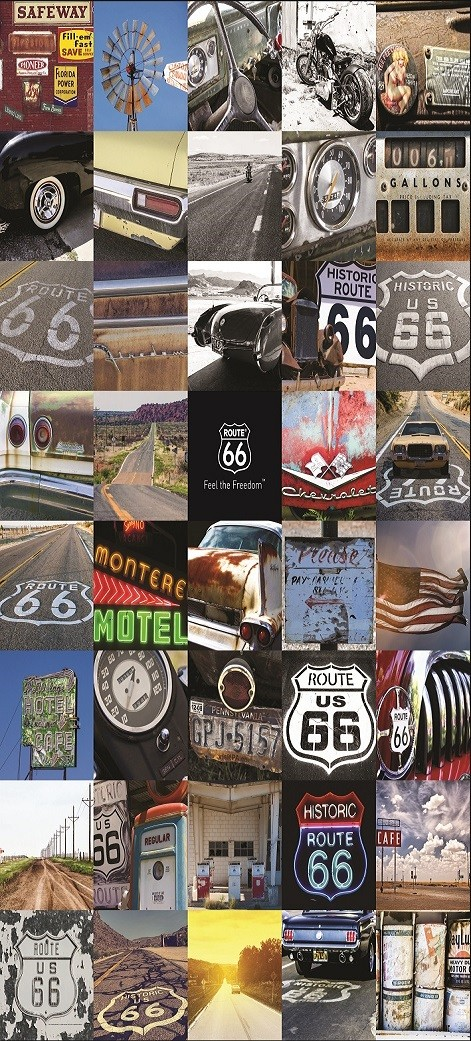 Route 66 wall mural buy at europosters for Route 66 mural