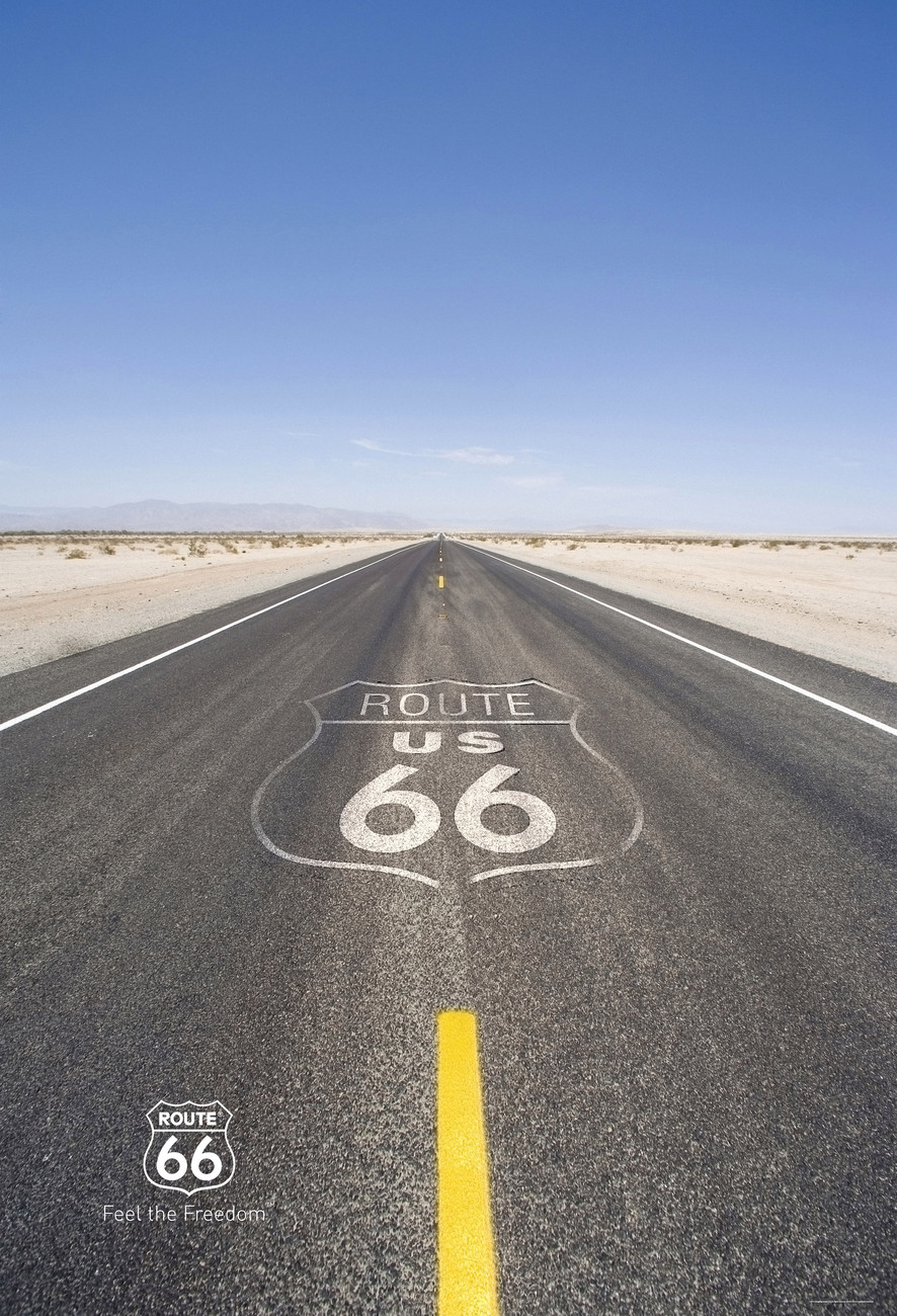 66 >> Route 66 Road Wall Mural Buy At Europosters