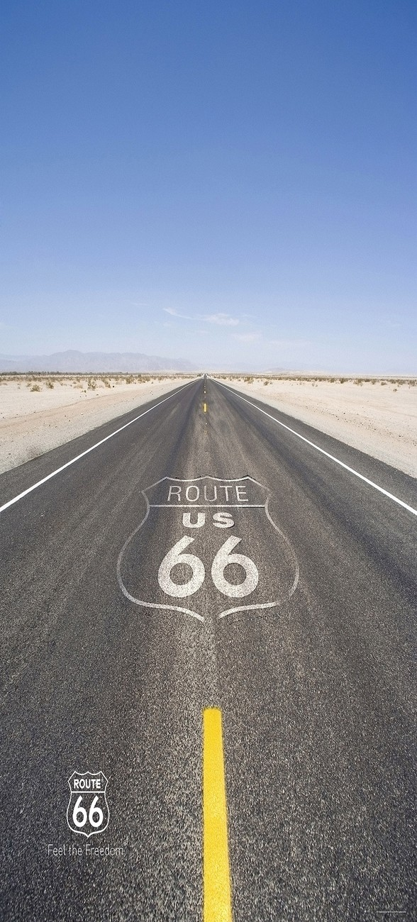 Route 66 road wall mural buy at europosters for Route 66 mural