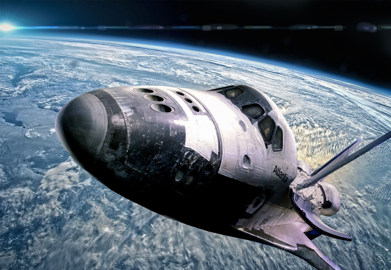 Print Wall Mural Space Shuttle Wall Paper Mural Buy At Europosters
