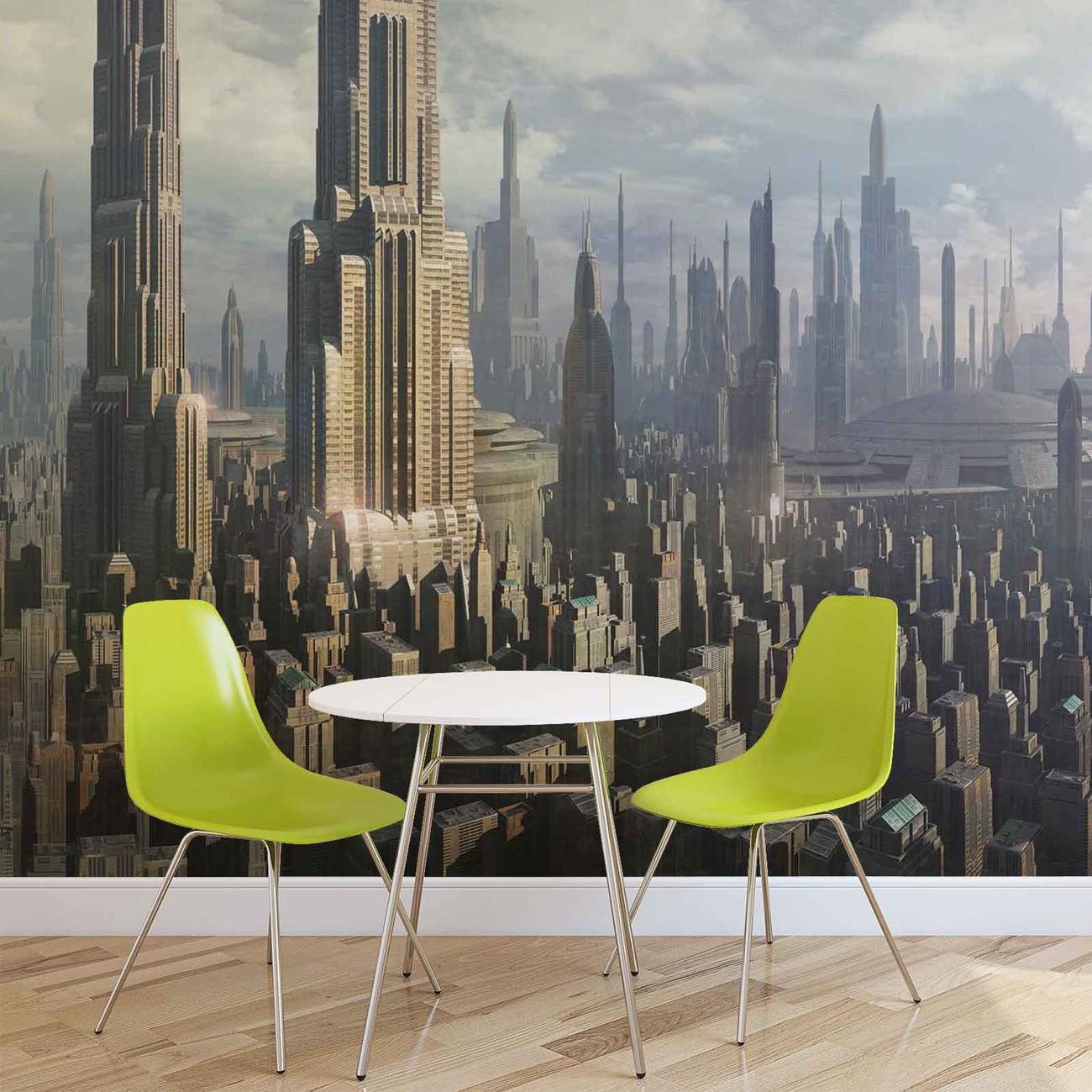 Star Wars City Coruscant Wall Paper Mural Buy At Ukposters