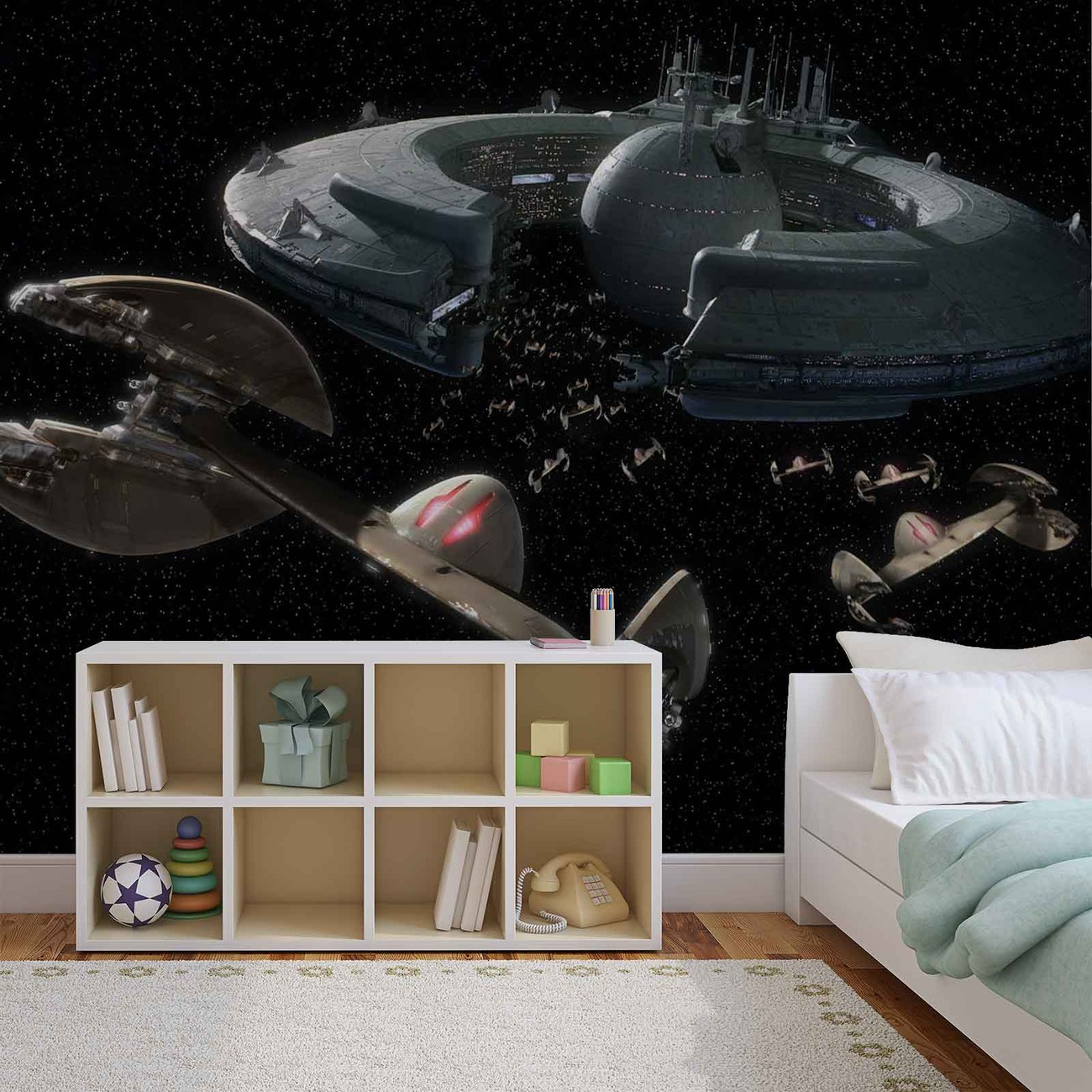 Star Wars Droid Control Ship Lucrehulk Wall Paper Mural Buy At