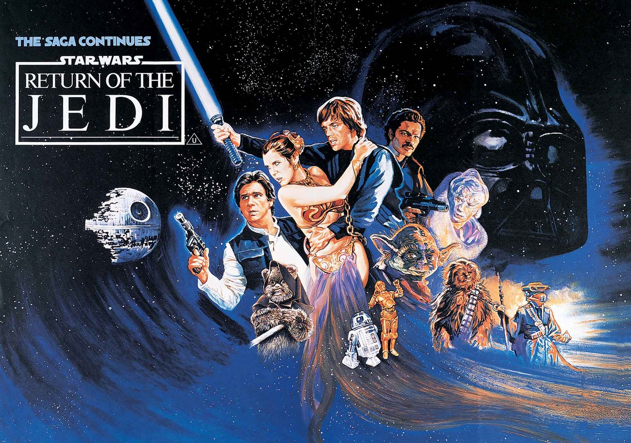Star wars return of the jedi wall paper mural buy at for Mural star wars