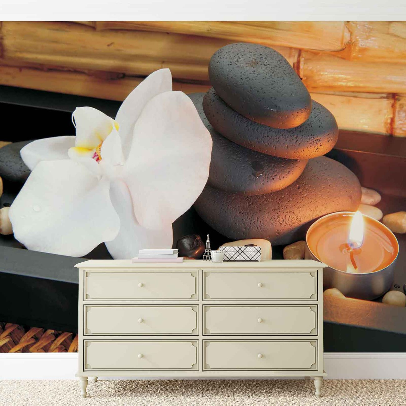 Stone peaceful zen wall paper mural buy at europosters for Poster mural zen