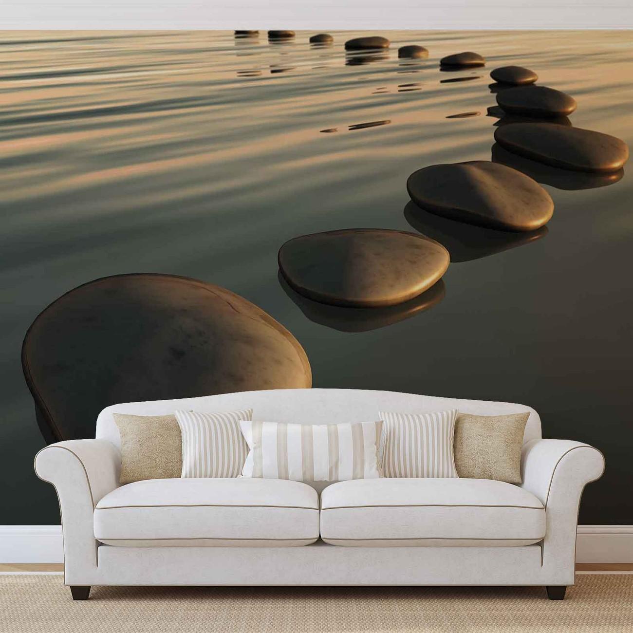 Stones Ripples Zen Wall Paper Mural Buy At Europosters