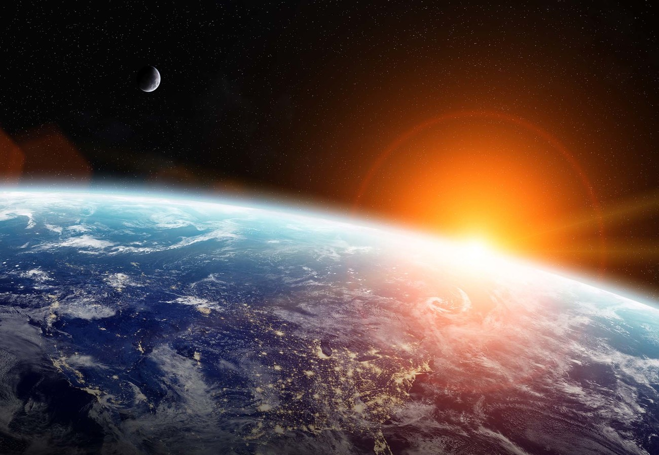 Sunrise Over Planet Earth Wall Paper Mural   Buy at EuroPosters