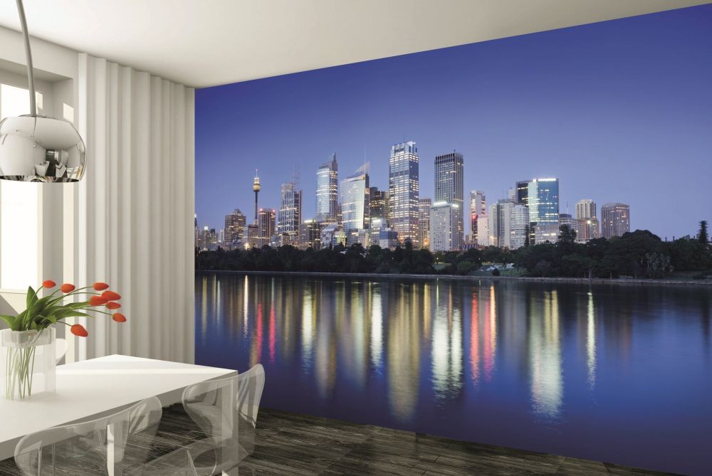 sydney australia wall mural buy at europosters wall mural sydney city reflections architecture