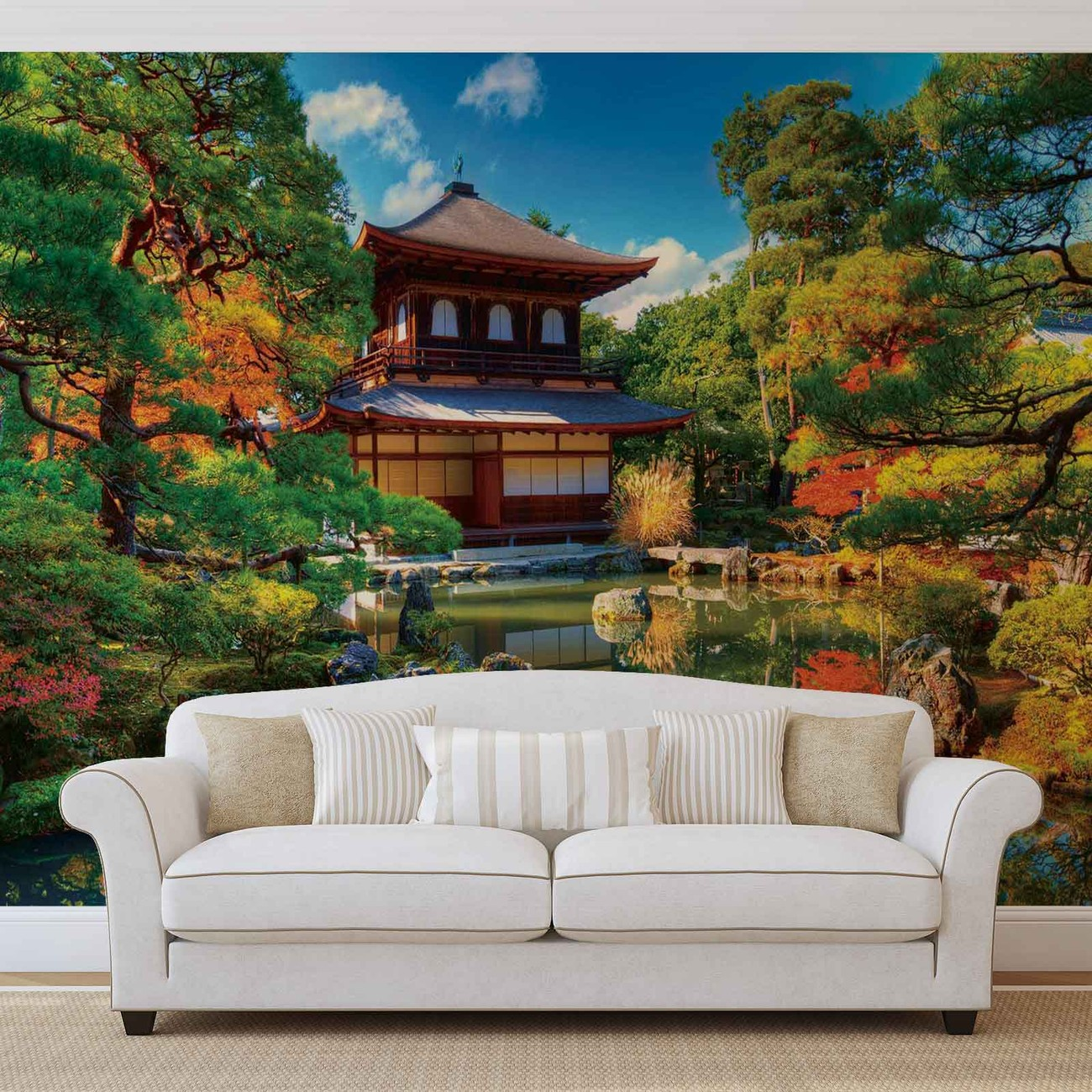 temple zen japan culture wall paper mural buy at europosters. Black Bedroom Furniture Sets. Home Design Ideas