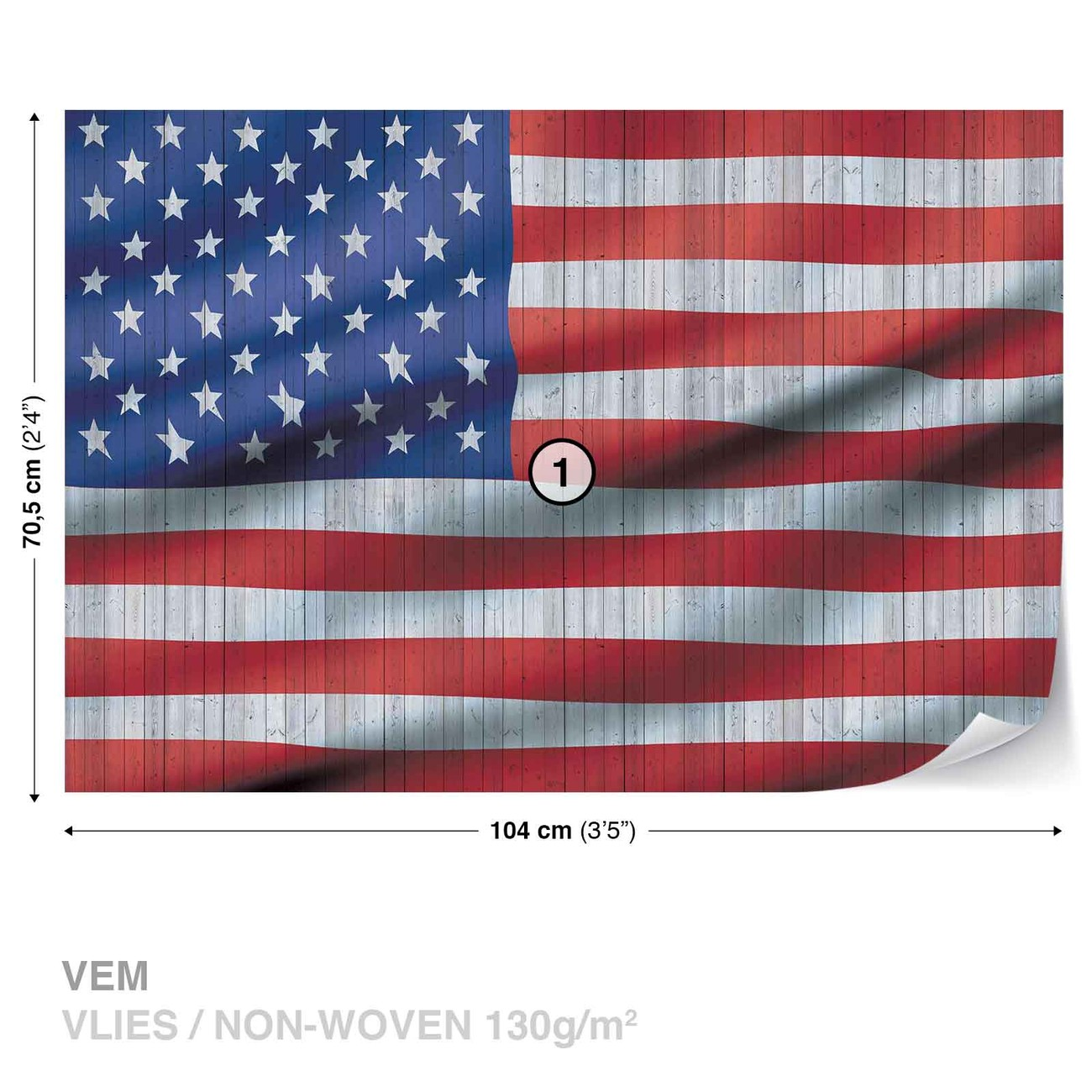 Usa American Flag Wall Paper Mural Buy At Europosters