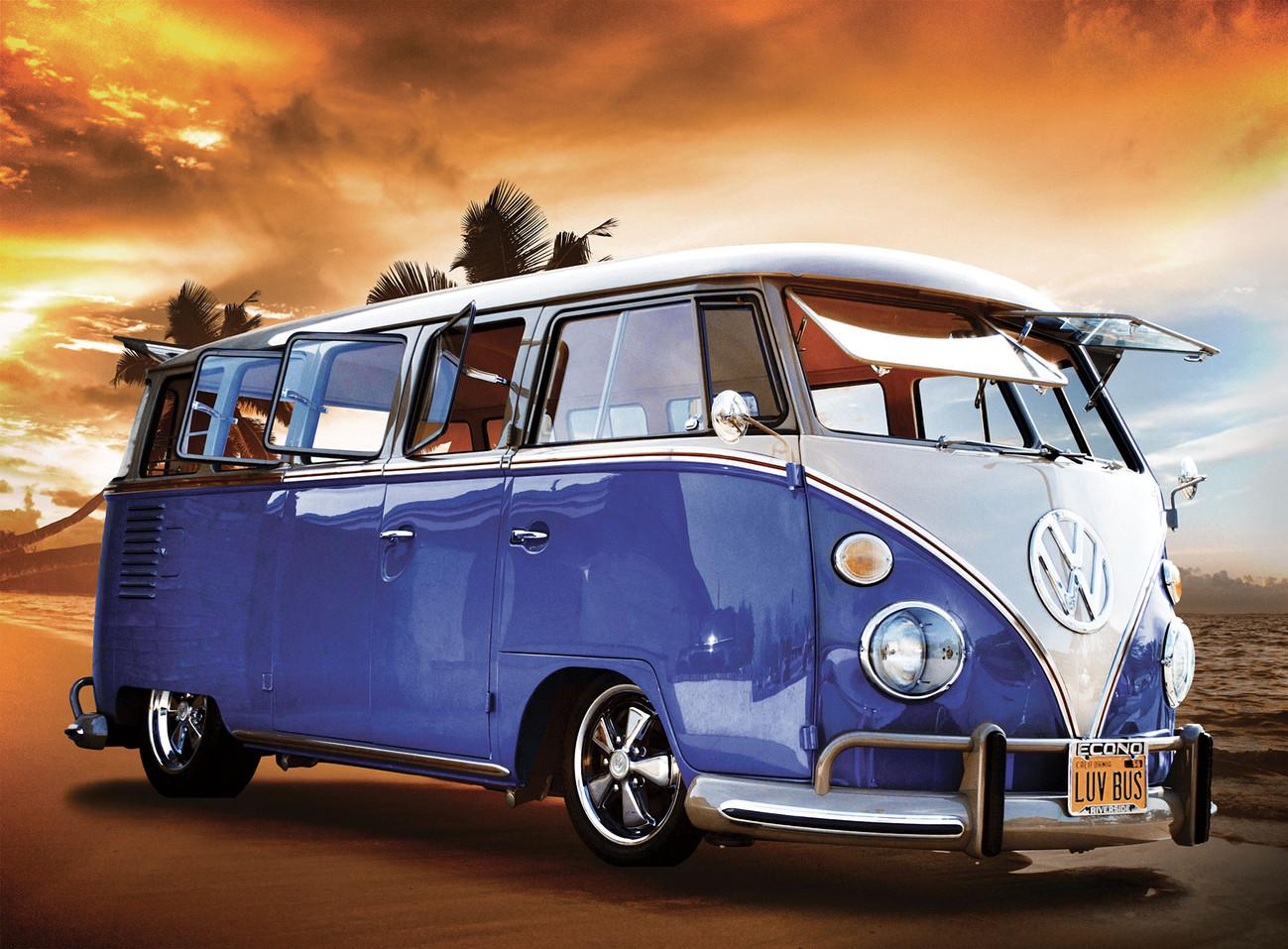 volkswagen camper van sunset wall mural buy at. Black Bedroom Furniture Sets. Home Design Ideas