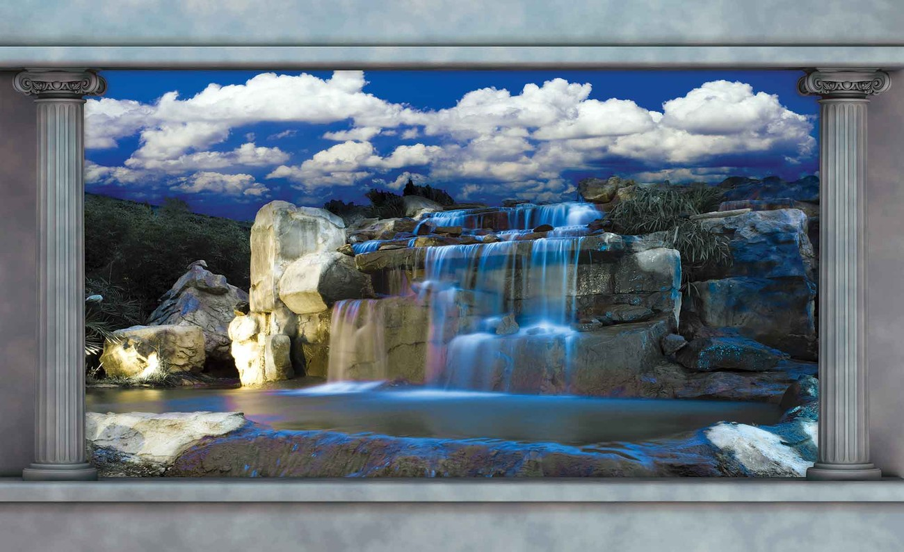 Waterfall wall paper mural buy at europosters for Buy mural wallpaper
