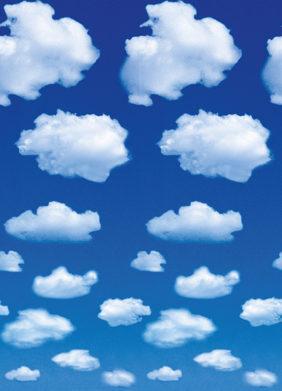 White clouds wall mural buy at europosters for Cloud mural wallpaper