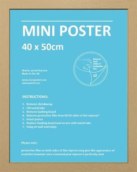 CadreCadre - Mini Affiche 40x50cm Aggloméré chêne