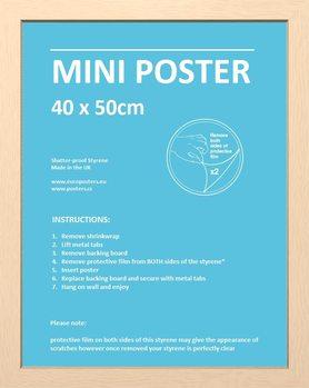 Frame - Mini poster 40x50 cm Beech Fibreboard