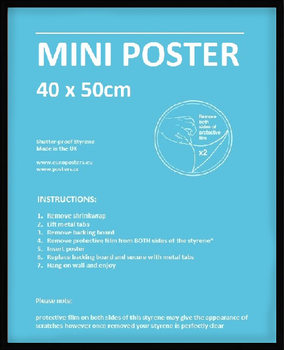 Frame - Mini poster 40x50 cm Black Plastic Frame, 0.8mm Plexiglass, MDF back