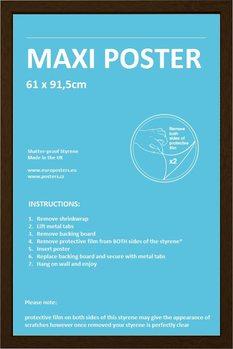 Frame - Poster 61x91,5cm Walnut Fibreboard