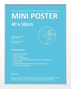 Frame - Mini poster 40x50 cm White Fibreboard
