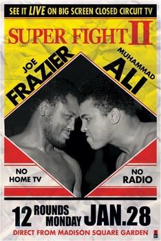 Muhammad Ali vs Joe Frazier Boxing Fighter Poster Wall Mural on Canvas