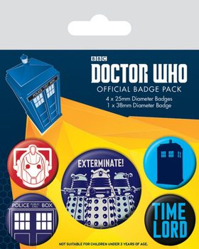 Doctor Who - Exterminate Badge Pack