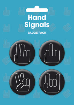 HAND SIGNALS Badge Pack