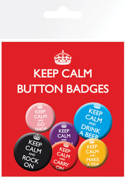 KEEP CALM Badge Pack