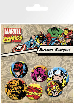 MARVEL - superheroes Badge Pack